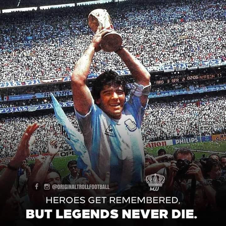 विख्यात फुटबलर म्याराडोनाको मृत्यु